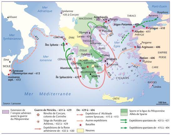 La guerre du Péloponnèse (431-404 avant J.-C.)