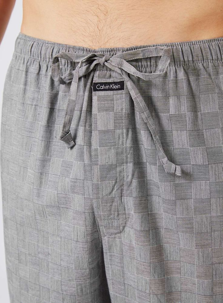 CALVIN KLEIN Grey Check Pyjama Bottoms - Men's Loungewear & Joggers - Clothing - TOPMAN