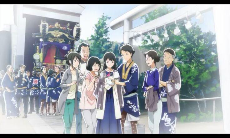 And finally they got the happy ending  Anime: Tsuki ga kirei