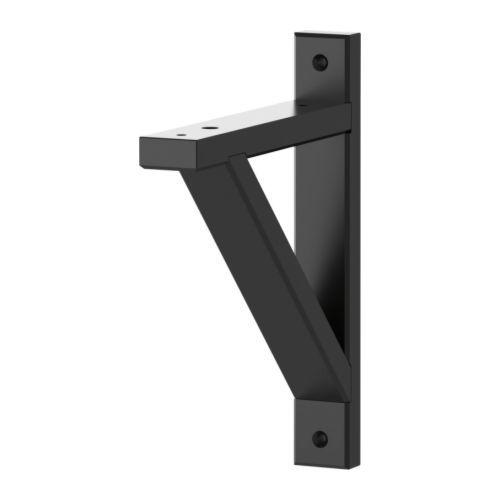 6 x EKBY VALTER Console - zwart, 18 cm - IKEA