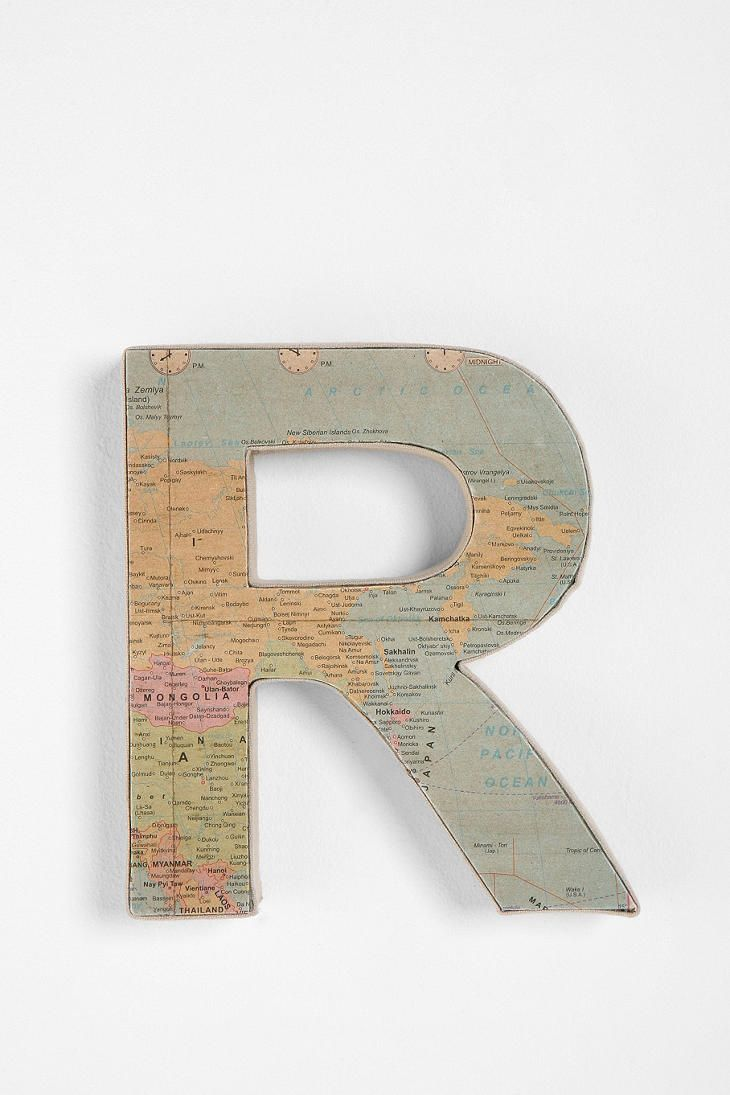 """Around the World Letter """"R"""" @UrbanOutfitters  $12"""