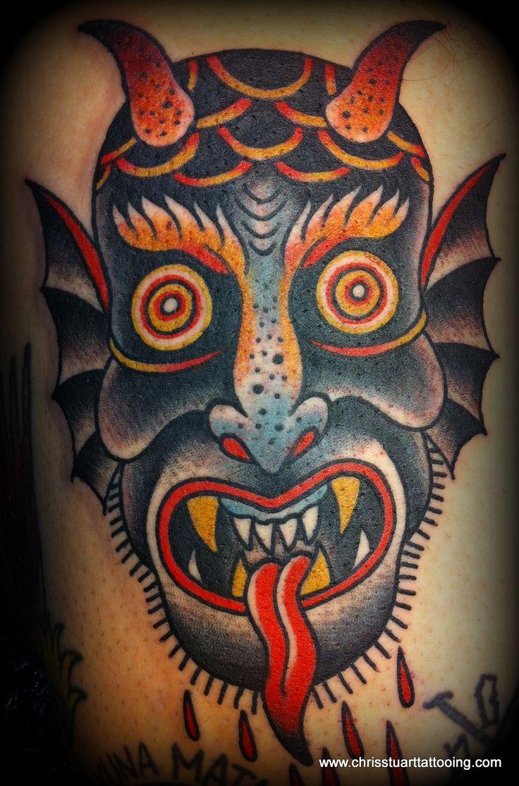80 crazy and amazing tattoo designs for men and women desiznworld - Devil Head Tattoo By Chris Stuart Www Chrisstuarttattooing Com Www Facebook Com