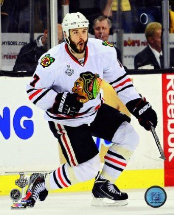 Brent Seabrook Chicago Blackhawks 2013 Stanley Cup Finals Game 4 Celebration Photo 8x10