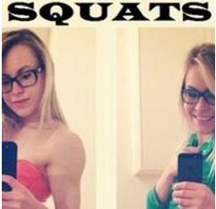 Girls Who Squat Before And After.