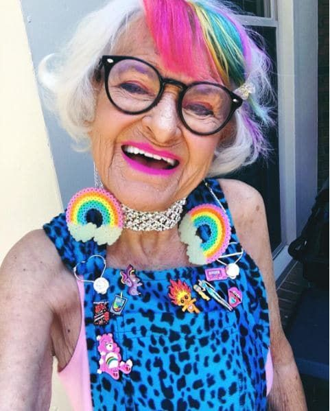 12 Women Who Prove Rainbow Hair Looks Great At Any Age