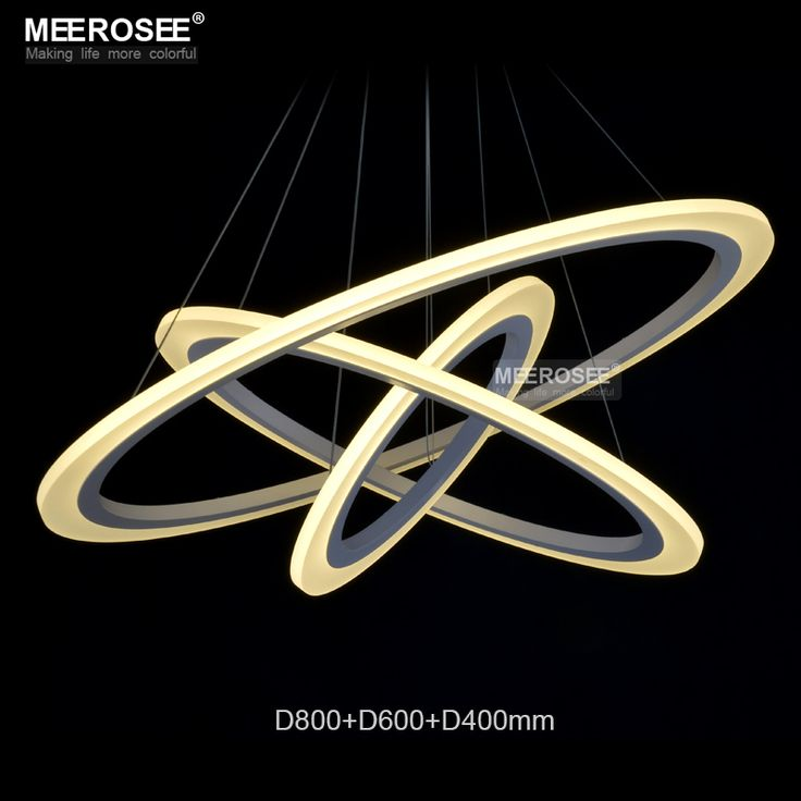 Modern Rings LED Pendant Lights for Dining Room White Acrylic Circles LED Pendant Lamp Lustres LED Lamparas de techo