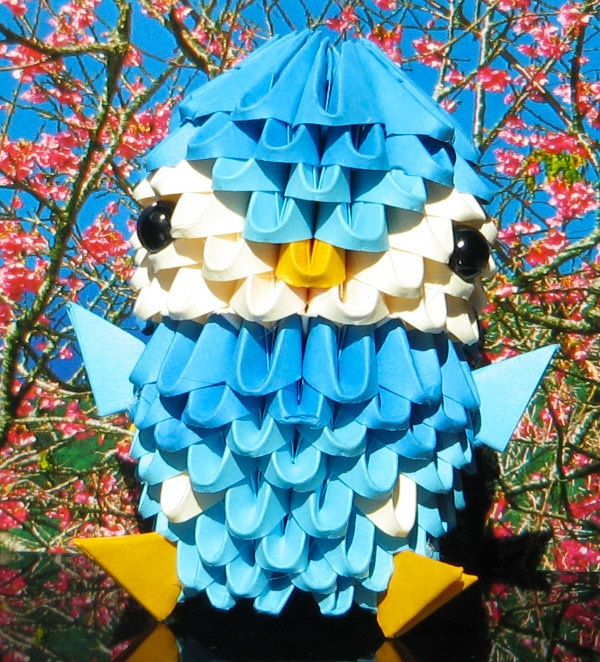3D Origami Piplup by 3Dorigamidreambank on Etsy, $3.50