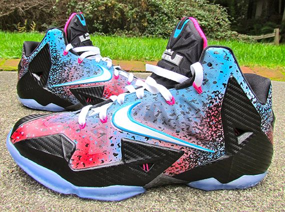 "Nike LeBron 11 ""Miami Nights Flashback"" by JustWin Customs"