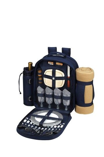 Backpack cooler with picnic blanket. I need this for camping!