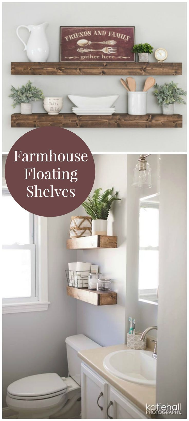 Floating shelves kitchen  These shelves are absolutely beautiful Exactly what I was looking
