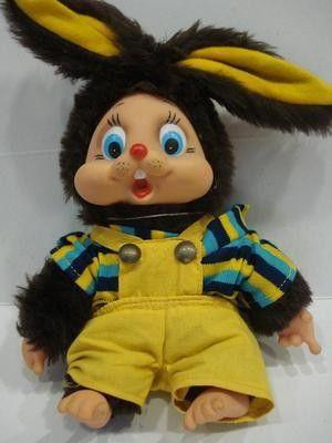 1970's Greek EL GRECO Vintage Old stuffed toy DOLL ++++ RARE ++++ So cute !! (01/15/2013)
