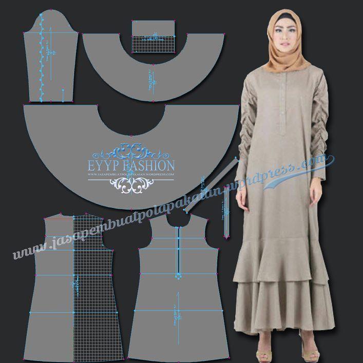 "11 Suka, 2 Komentar - Pattern Maker (@makerpattern) di Instagram: ""#hijabsyari #hijab #bergo #khimar #fashion #polajakarta #freelance #patternmakers #cad #optitex…"""