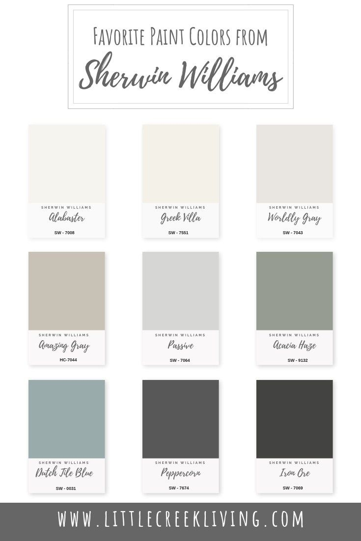 Favorite Paint Colors From Sherwin Williams Little Creek Living