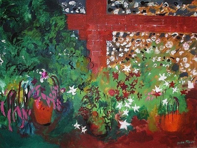 john piper, artist, flowers