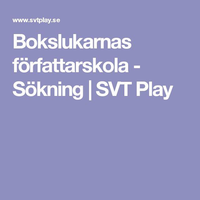 Bokslukarnas författarskola - Sökning | SVT Play