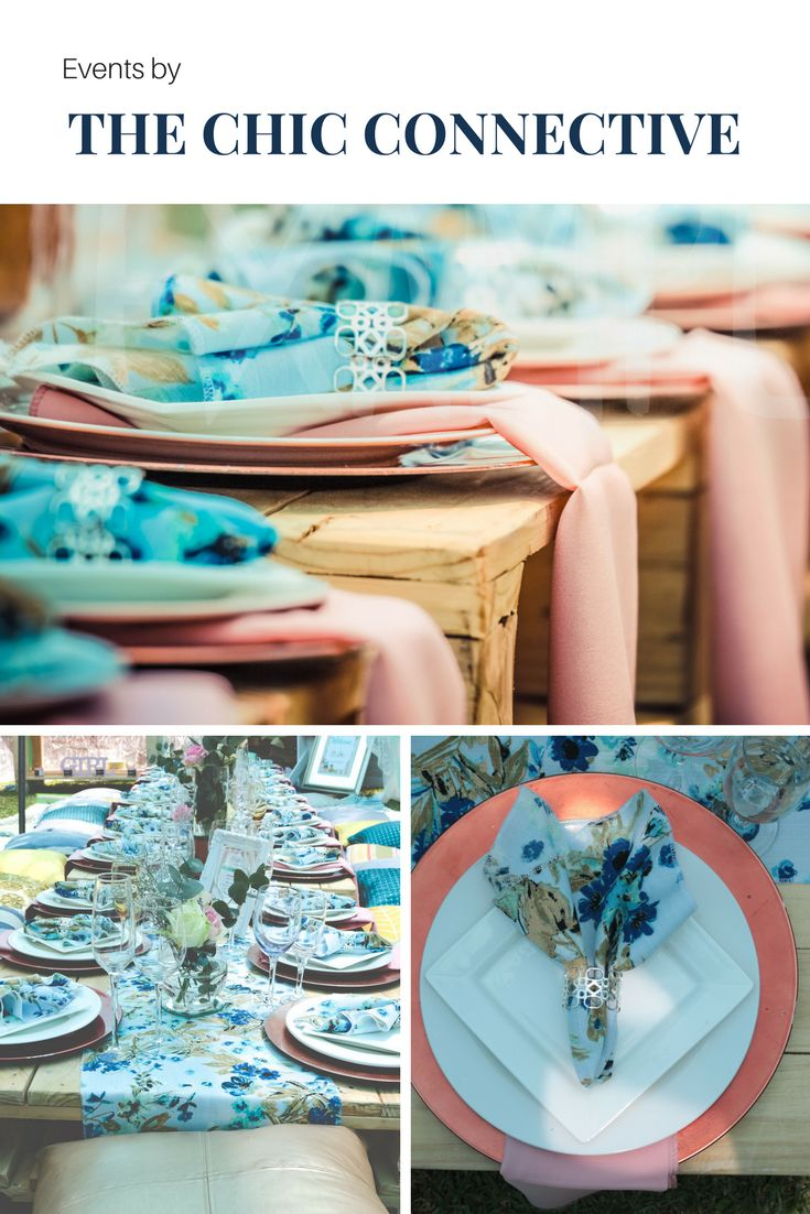 The Chic Connective - is a botique events planner - designing exquisite celebrations that honor the clients style and vision
