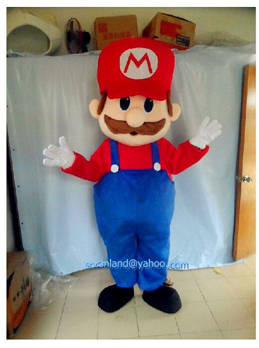Halloween Super Mario Mascot Costume, Mascot Costumes for 2014 Halloween Party