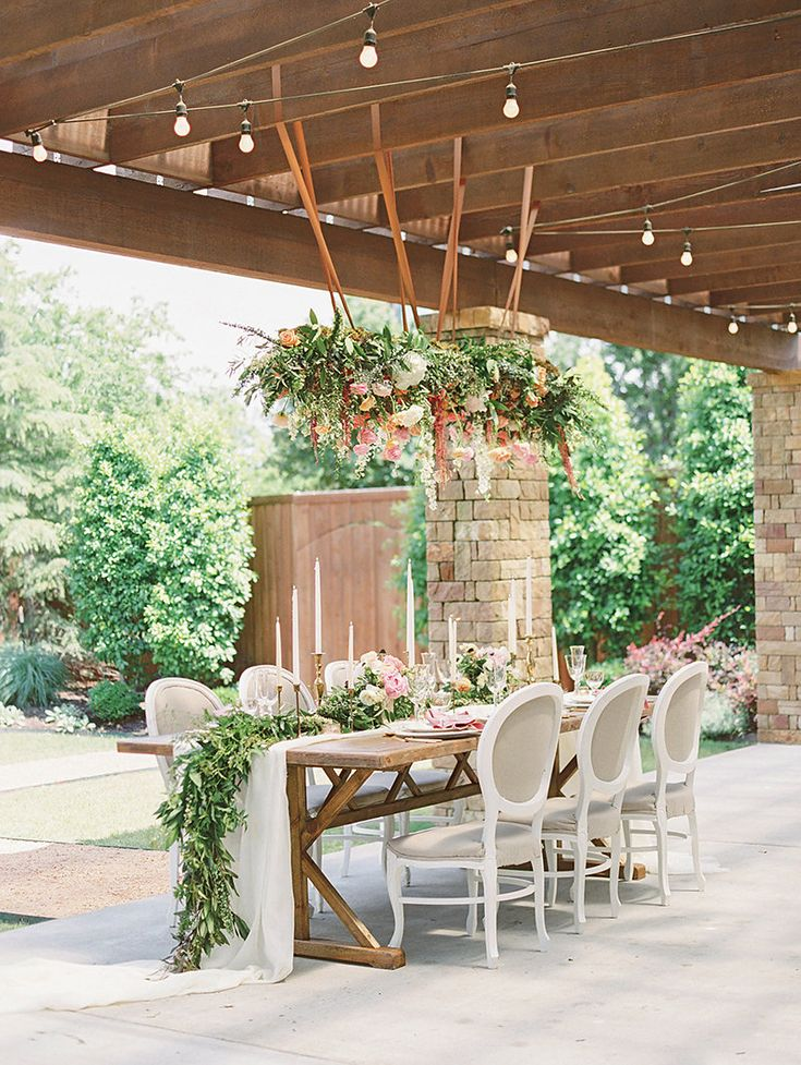 wedding table - http://ruffledblog.com/tuscan-garden-elopement-editorial