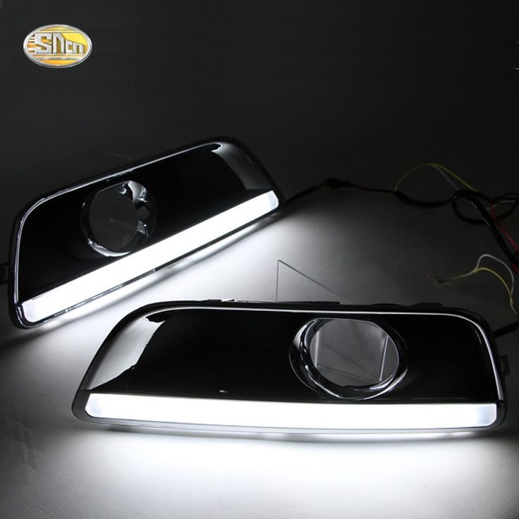 (61.20$)  Know more  - SNCN LED Daytime Running Lights for Chevrolet Malibu 2011-2015 Fog lamp cover 12V ABS DRL