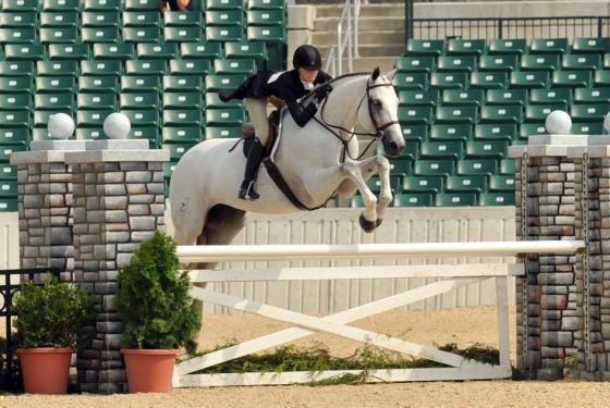 C Coast Z & Lillie Keenan round 1 of the International Hunter Derby 2011 #horseshow #hunter
