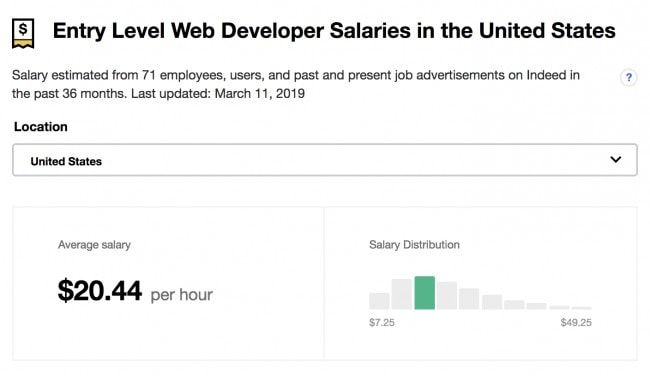 Web Developer Salary In 2019 How Much Do Web Developers Make Https Mikkegoes Com Web Developer S In 2020 Web Developer Salary Learn Web Development Web Development