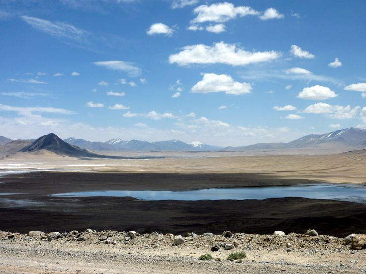 Pamir highway remote salt lake... no good when your thirsty though!