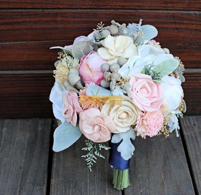 اجمل صور بوكيه ورد لاعياد الميلاد وللأحبه موقع مصري Flower Bouquet Wedding Bridal Bouquet Silk Flowers