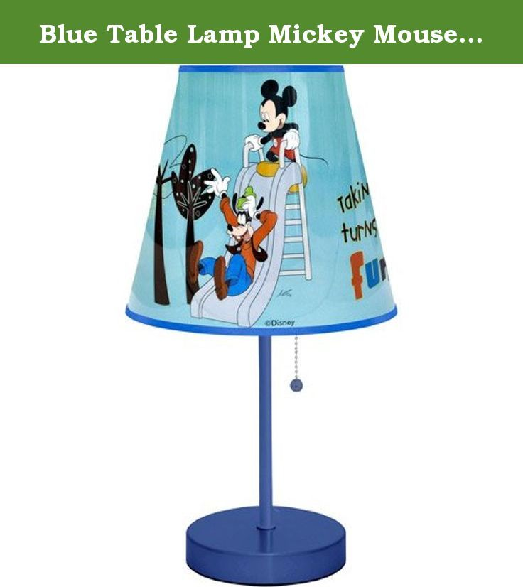 Blue Table Lamp Mickey Mouse images for child's bedroom, playroom or study area. This Disney Mickey Mouse Table Lamp, featuring images from Disney's timeless masterpiece, is the perfect way to light-up your child's bedroom, playroom or study area. It is an excellent decorative accent and is small enough to fit easily onto any desk or side table. It features a durable metal base. This blue table lamp will create a pleasant glow throughout the room. Use this item along with additional…