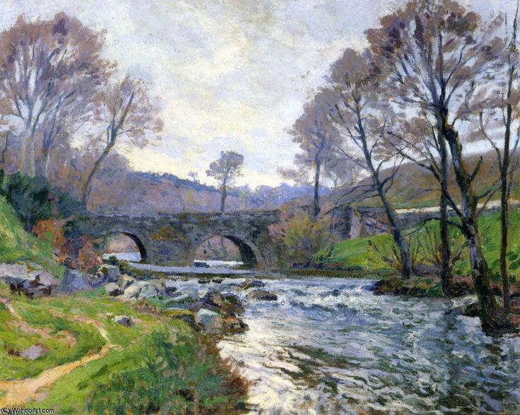 La Cedelle de Le Pont Charaud - Crozant de Paul Madeline (1863-1920, France)