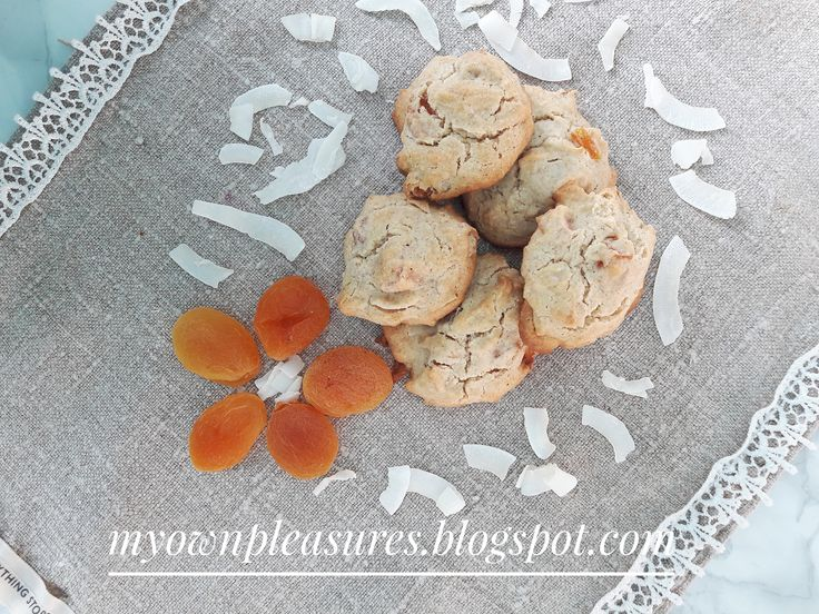 Pyszne morelowo kokosowe ciastka owsiane - przepis