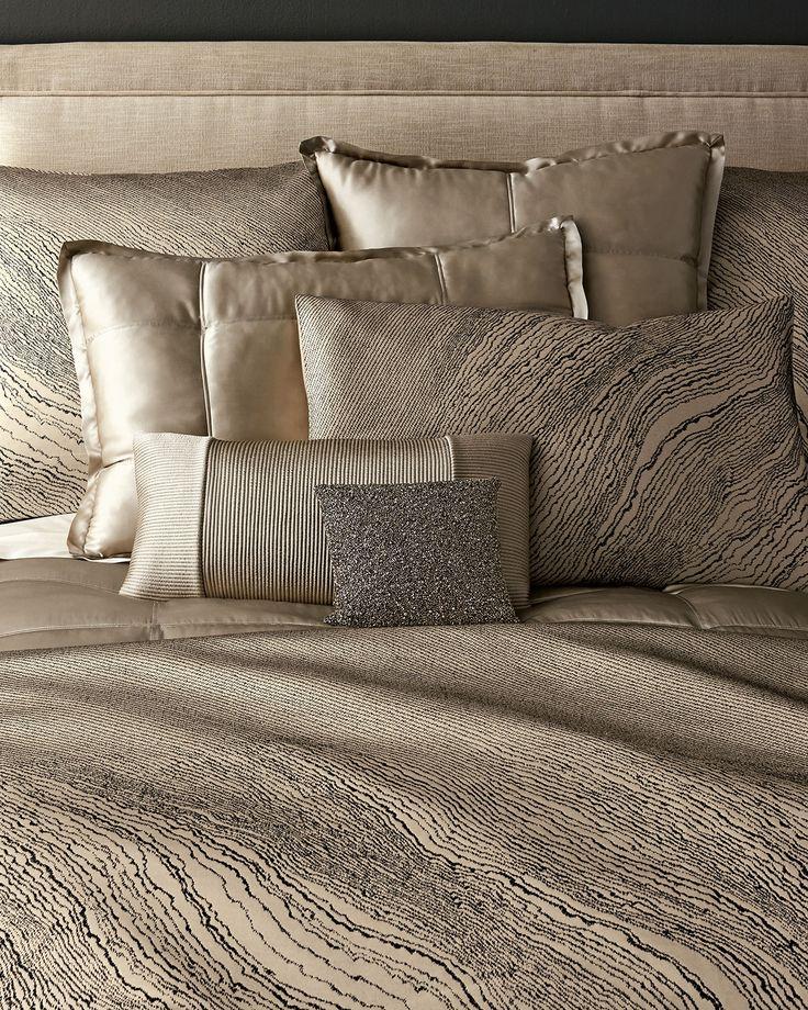 Donna Karan Home Modern Pulse bedlinen | shimmering precious metals