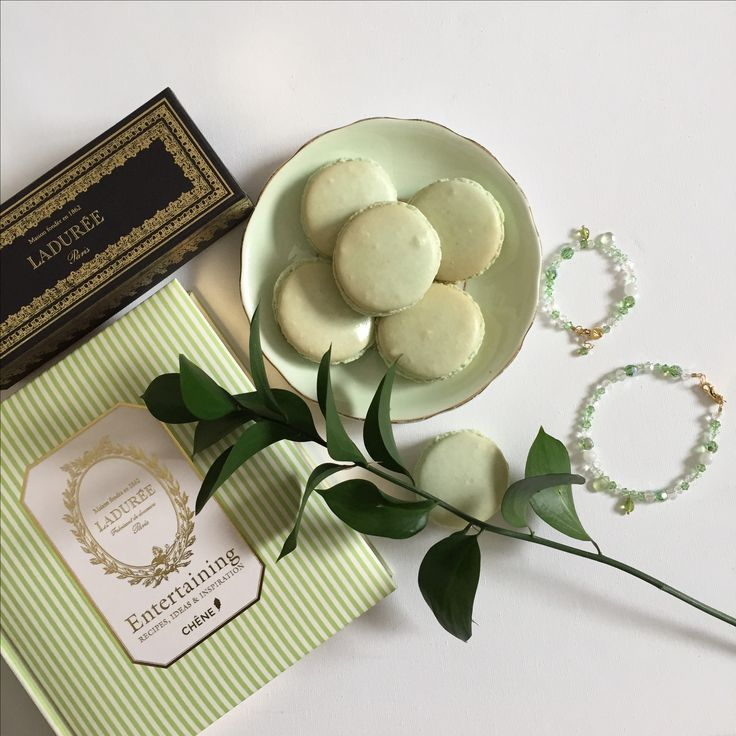 For the foodie - French macarons, a Laduree cookbook, and some sparkle