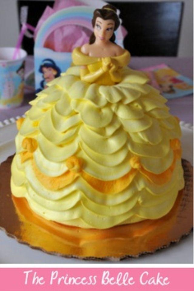 Princess Belle Doll Cake Doll Cakes Belle Birthday Cake Belle Cake