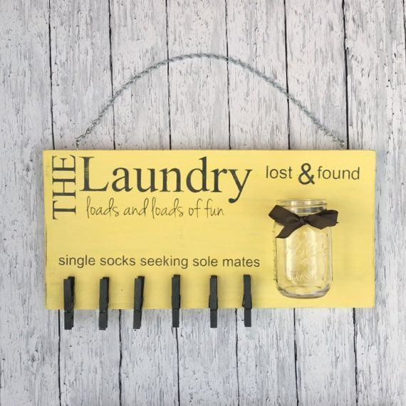DIY Craft Package - Laundry Room Decor - Laundry Signal - Misplaced Socks - Misplaced and Discovered - Create your personal - Residence Decor - Do It Your self - Craft Package