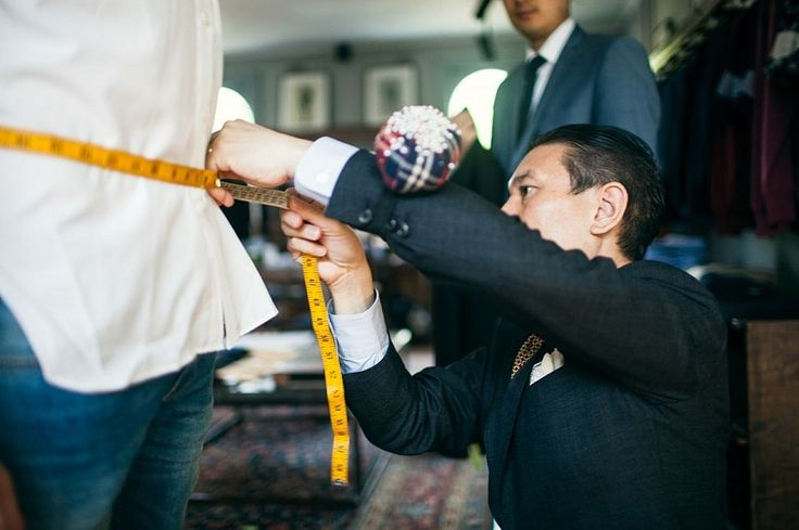 Luc Wiesman from D'Marge and M.J. Bale master tailor Kaneko. Photo: D'Marge