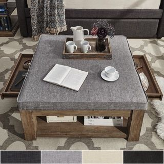 Shop for Lennon Pine Square Storage Ottoman Coffee Table by TRIBECCA HOME. Get free shipping at Overstock.com - Your Online Furniture Outlet Store! Get 5% in rewards with Club O!