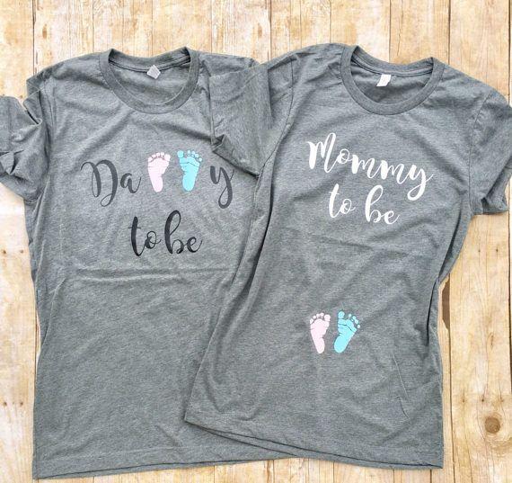 de590484d1be5c9422ee93e4bd7e61f8 gender reveal shirts pregnancy announcement shirt - Couples pregnancy Announcement shirts Preggers Shirt Couples