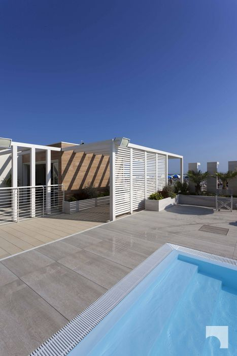 [Reference: Malù Beach | Italy | 2015] Porcelaingres In_Wood | highest performance on wet surfaces #design #tiles