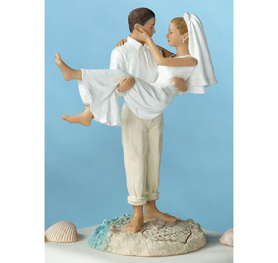 Just Married Beach Couple Cake Topper | Beach Cake Topper