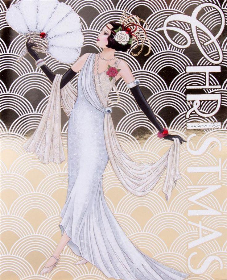 Graphic design art deco style dress