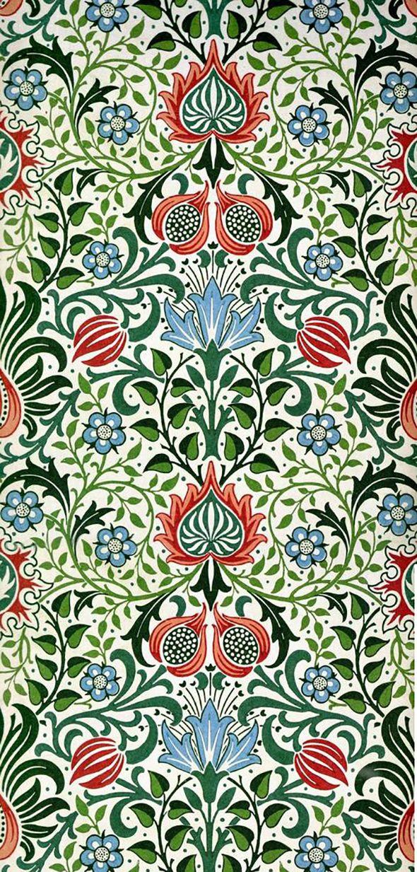 william morris victorian wallpaper