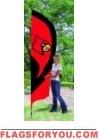 Louisville Cardinals Tall Team Flag 8.5' x 2.5'