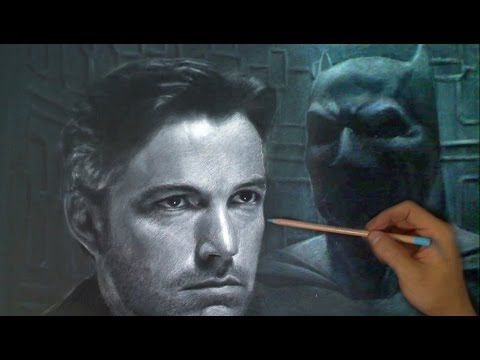Batman Drawing - from Batman vs Superman trailer - Ben Affleck - YouTube