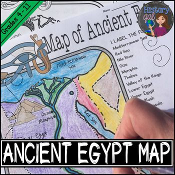 Students will learn about important places in the Ancient Egypt civilization as they label and color a map. It's also a great way to incorporate geography in your lesson.What's included:Blank Ancient Egypt map for students to label and color (1 page)Map Key (1 page)Ancient Egypt map for students to just color (1 page)*This zip file contains PDF files****This map is included in the following bundles: Ancient World Mega Bundle Set #1, and World History Mega…