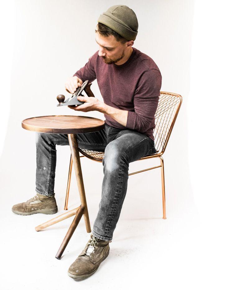 Walnut End Table Midcentury Modern Danish fernweh woodworking