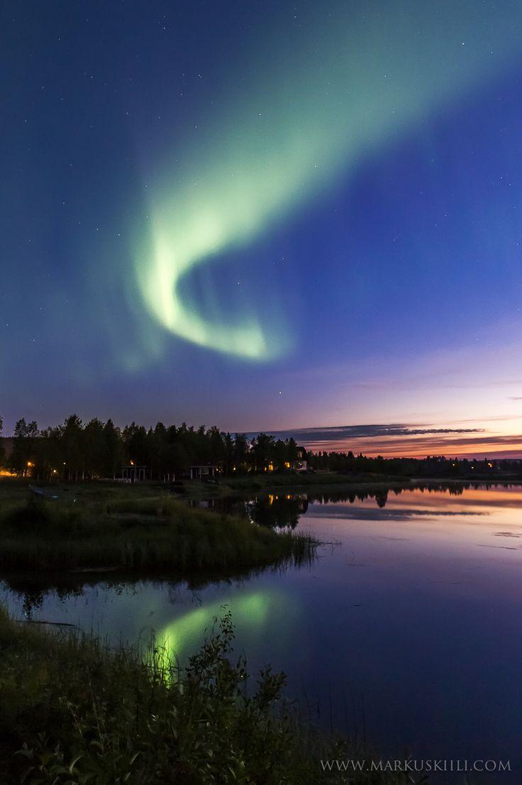 Last night auroras at Äkäslompolo