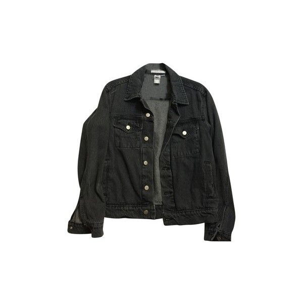 American Apparel Unisex Denim Dark Stone Wash Black Womens Jean Jacket ($83) ❤ liked on Polyvore featuring outerwear, jackets, tops, coats, jean jacket, american apparel, black jacket, denim jacket and american apparel jacket