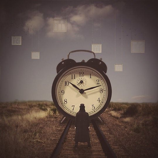 Similar to another manipulation further below, it showcases the inevitability of time's approach, and we all cannot withstand it.