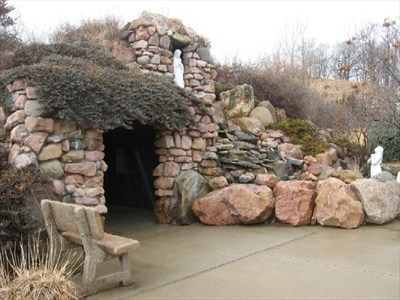 Lourdes grotto, Sioux City, Iowa, fun place to go see has been thier for centurys it seems still thier now