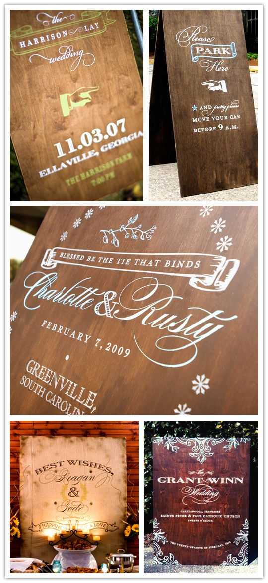 Gorgeous custom signage from Chocolate Butterbean
